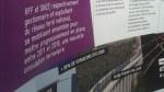 La SNCF et RFF mettent en avant la rénovation du réseau TER. Mais sans augmentation de la fréquence des trains sur la ligne Rouen-Paris, ce sont les 30 % d'augmentation des voyageurs en 2020 qui inquiètent. | Source : panneau d'information SNCF en gare de Vernon