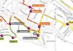 Desserte des bus pour les quartiers des Boutardes, des Douers et de Gamilly. | Source : Transcape.