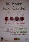 Affiche de la foire aux cerises 2012