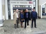 Gare de Vernon, de gauche à droite : Gérard Volpatti, Hélène Ségura, Alain Le Vern et Philippe Nguyen Thanh.