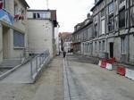 La rue Carnot en travaux, en bas de la rue d'Albuféra, mai 2012.