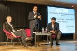 De gauche à droite : Hervé Maurey, Sébastien Lecornu et David Lacombled, le soir de la conférence.