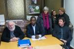 Arnaud-Rodrigue Adonon, entouré de Philippe Nguyen Thanh et Bernard Patin, lors de la conférence de presse.