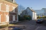 Maison Rose (sur la gauche) et square Benjamin Pied.