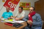 Lors de la conférence de presse. De gauche à droite : Lionel Lemercier, Laurent Dupré et Pascal Louis.