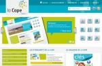 Page d'accueil du nouveau site internet de la CAPE.
