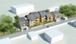 Visuel du projet de logements sociaux rue Adolphe Vard, version présentée en janvier 2012. | Source : Secomile & cabinet GDA