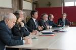 De gauche à droite : Jean-Jacques Cholet, Hélène Ségura, Jean-Louis Destans, Philippe Nguyen Thanh, Gérard Volpatti, Jean-Luc Lecomte, Pascal Lehongre.