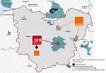Carte des zones qui seront couvertes, dans l'Eure, par les investissements des opérateurs. Pour les autres territoires, ce sera beaucoup pus compliqué.