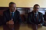 Bruno Le Maire (à gauche) n'a pas ménagé ses efforts pour vanter la candidature de Sébastien Lecornu.