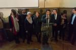 Proclamation des résultats à Vernon par le maire. Les adjointes Hélène Ségura et Agnès Bernard, sur sa droite, sont visiblement très émues du faible score de la liste socialiste.