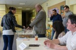 Au bureau de vote des Valmeux.