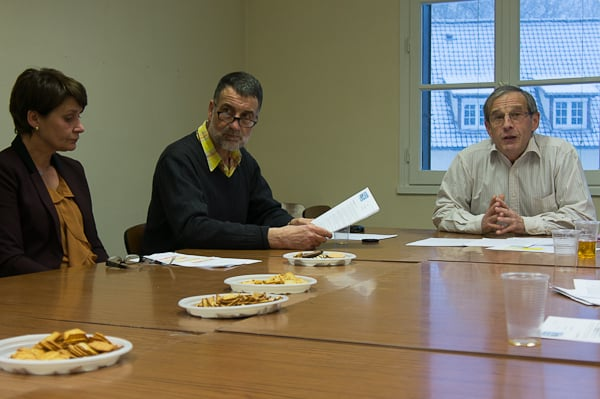 De gauche à droite : Hiltrud Compin (trésorière), Robert Baur (secrétaire adjoint), Christian Vanpouille (président).