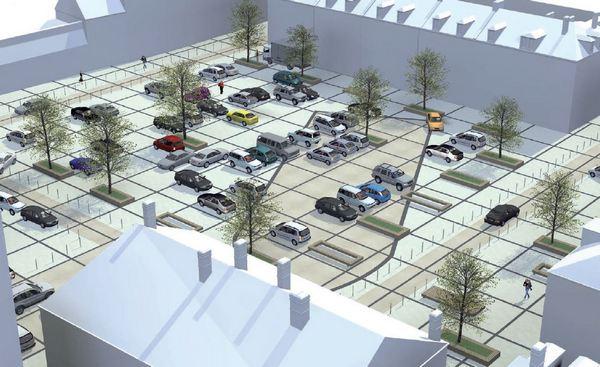 Visuel du projet de réaménagement de la place De Gaulle, vu du croisement de l