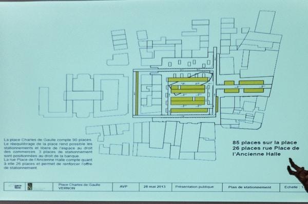 Le stationnement tel que prévu par le cabinet Berim. Il faut y ajouter, dans la dernière version, des places de stationnement supplémentaires rue des Tanneurs.