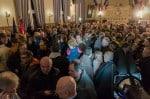 Salle des Mariages de la mairie de Vernon, déjà pleine à craquer une heure avant la proclamation des résultats.